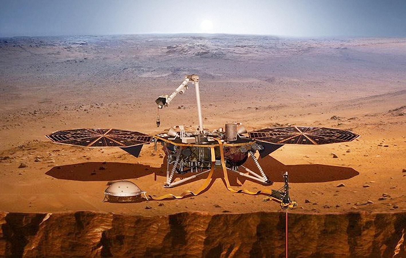Tàu thăm dò InSight. Ảnh: NASA.