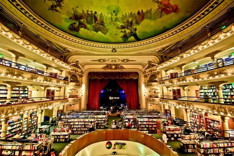El Ateneo Grand Splendid được nhiều người gọi là hiệu sách đẹp nhất thế giới. Ảnh: Wikipedia.
