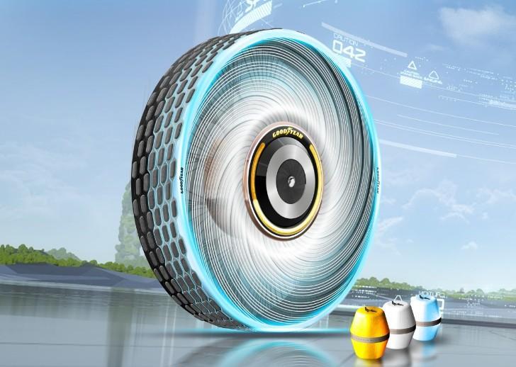 Lốp xe mới nhất của Goodyear cho phép đặt một hộp hợp chất lốp mới bên trong - Ảnh: Goodyear