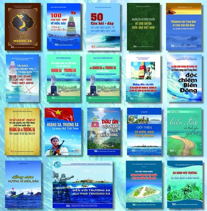 Bộ sách về biển đảo của NXB Thông tin và Truyền thông.
