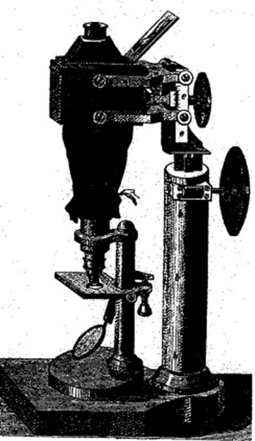 Kính hiển vi có gắn camera, loại được Koch sử dụng để chụp ảnh trực khuẩn than.