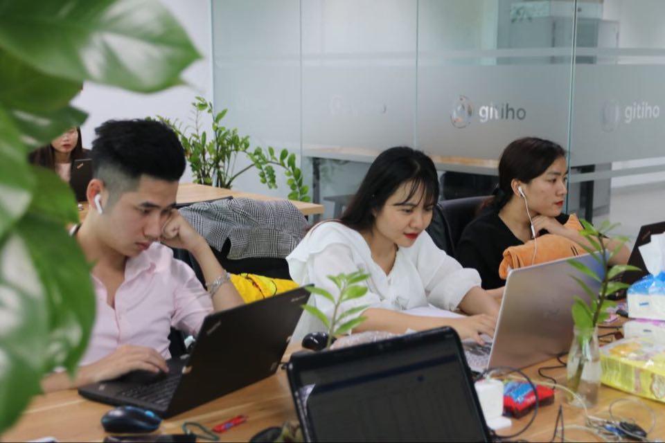 Đội ngũ phát triển sản phẩm của Gitiho.Ảnh: Xuân Bách