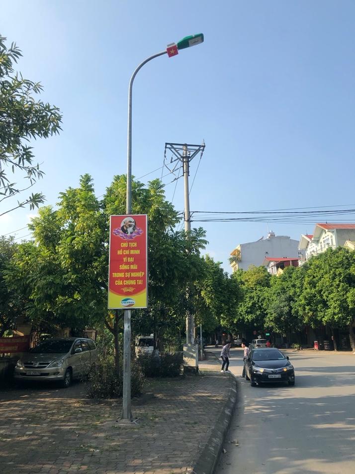 Module đèn LED được lắp thử trong khuôn viên Viện Hàn lâm KH&CN Việt Nam