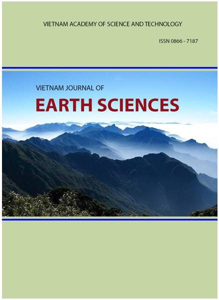 Ảnh bìa tạp chí Vietnam Journal of Earth Sciences.