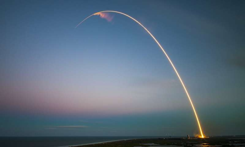 Hình ảnh vụ thử nghiệm trên bầu trời Florida.