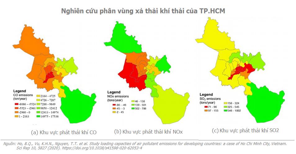 Phân vùng xả thải khí thải TP HCM