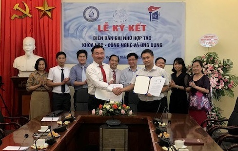 Lễ ký Biên bản ghi nhớ hợp tác giữa Trung tâm Đào tạo hạt nhân và Liên đoàn Quy hoạch và Điều tra tài nguyên nước miền Bắc