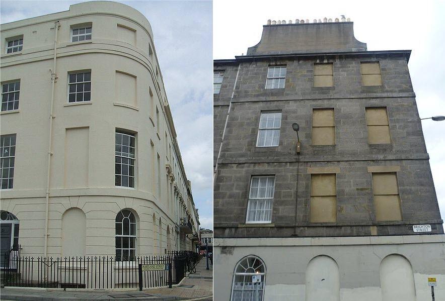 Một ngôi nhà với cửa sổ bị bít kín ở Bath. Ảnh: Jo Folkes/Flickr.