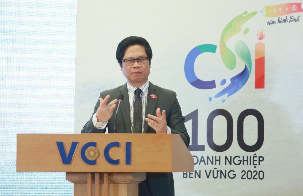 Ông Vũ Tiến Lộc phát biểu tại buổi phát động. Ảnh: NV