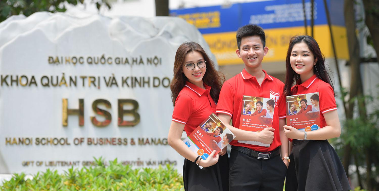 Năm 2019, Khoa Quản trị và Kinh doanh (ĐH Quốc gia Hà Nội) lần đầu tuyển sinh Chương trình đào tạo Cử nhân Quản trị doanh nghiệp và Công nghệ. Ảnh: vnu.edu.vn
