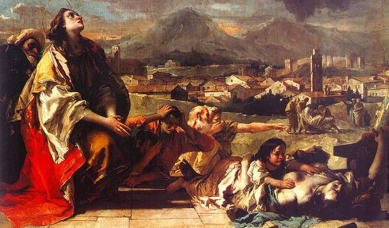 Mô tả về đại dịch Cái chết Đen ở châu Âu. Ảnh: Histclo.