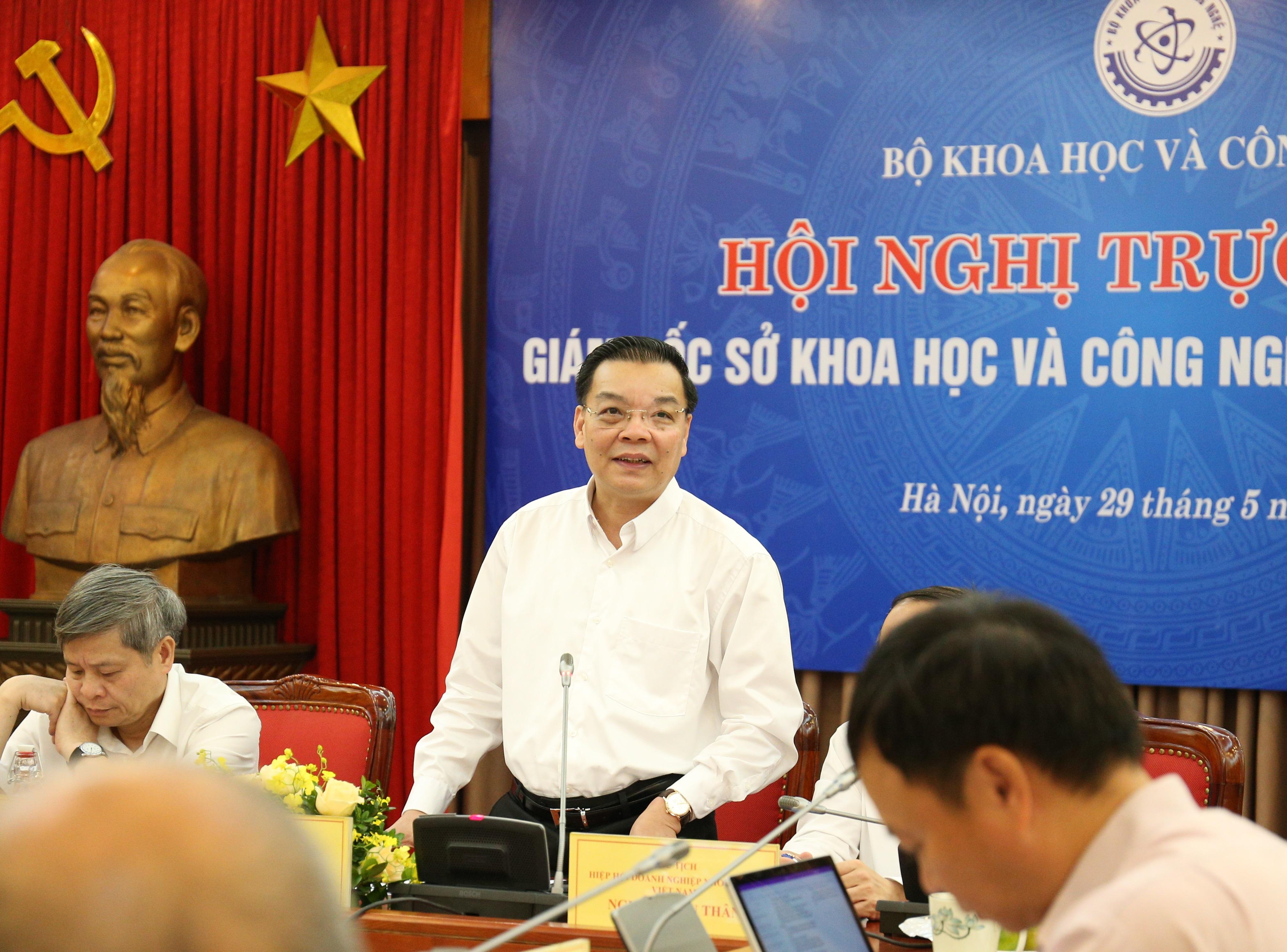 Bộ trưởng Bộ KH&CN Chu Ngọc Anh tại Hội nghị.