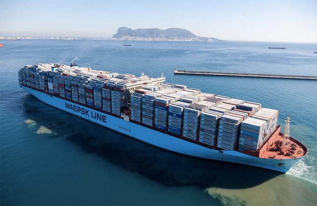 Tàu container Maersk Mc-Kinney Moller. Ảnh: Marine Traffic.