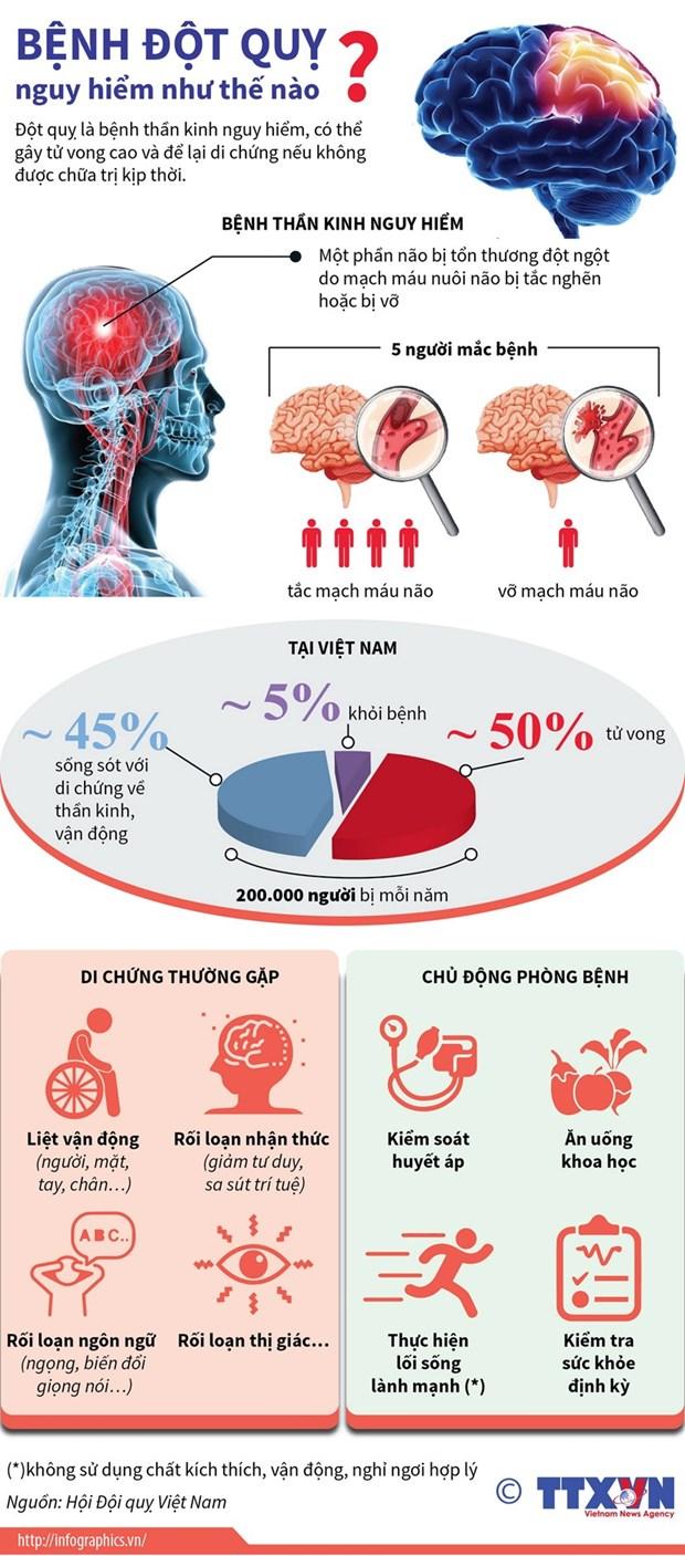 Bệnh đột quỵ nguy hiểm như thế nào | Nguồn: TTXVN