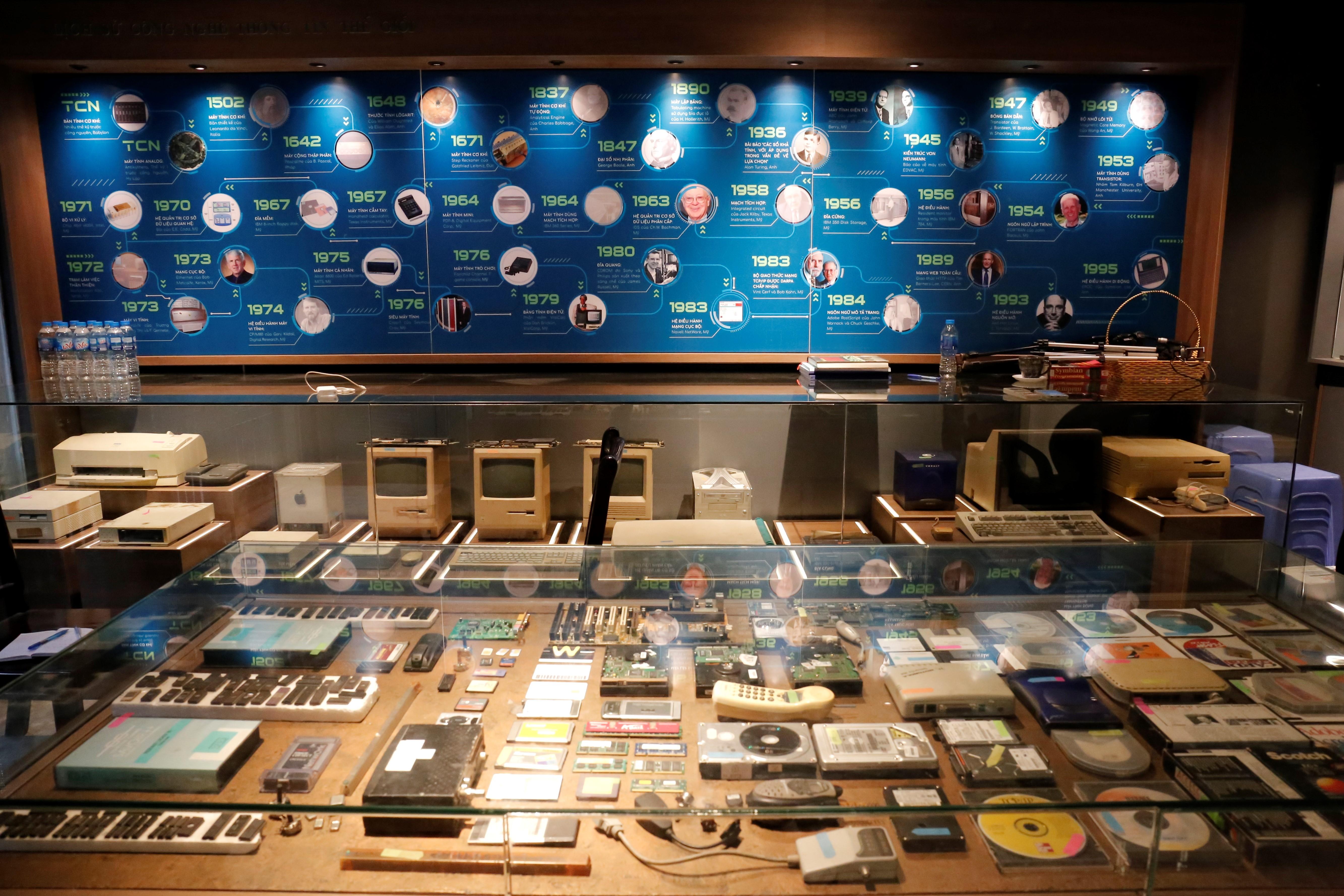 Một góc không gian bảo tàng Công nghệ Thông tin.