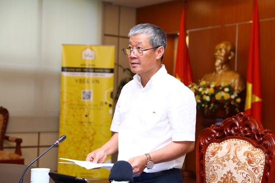 Thứ trưởng Bộ TT&TT Nguyễn Thành Hưng phát biểu tại buổi lễ. Ảnh: GP