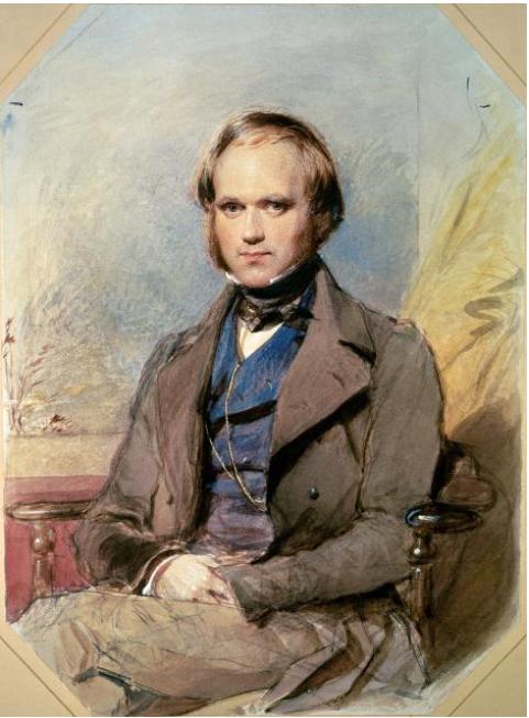 Darwin bốn năm sau khi trở về từ chuyến hành trình vòng quanh thế giới.