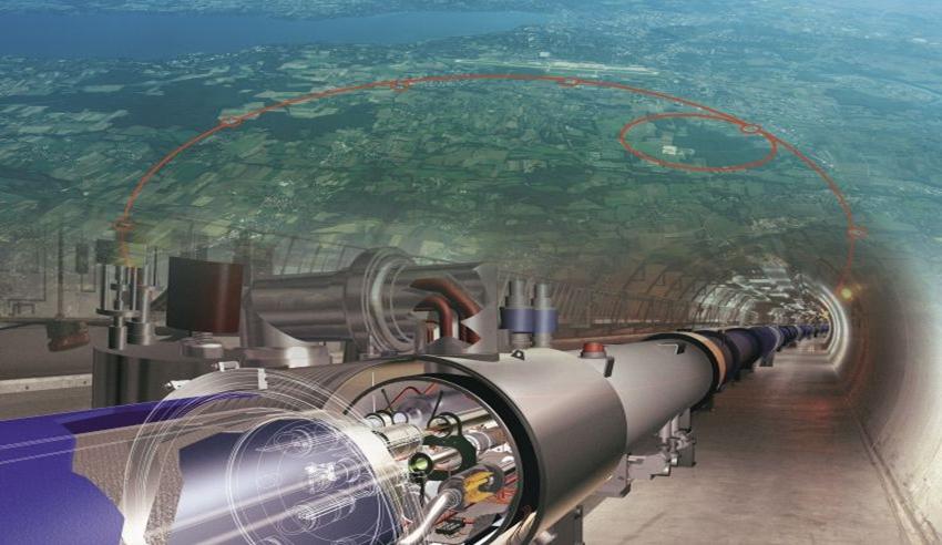 Máy gia tốc Vòng tròn Tương lai (FCC) nằm ngay bên cạnh LHC. Ảnh: CERN