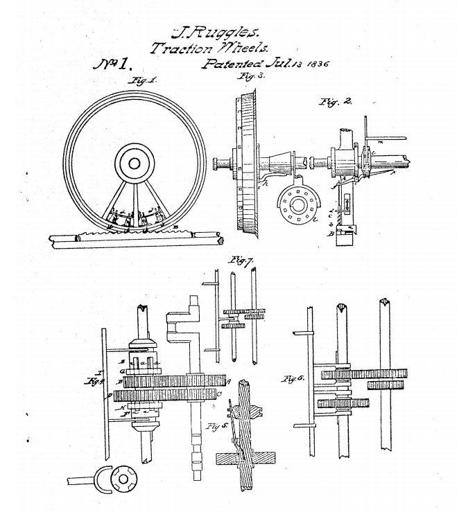 Patent số hiệu No.1 được cấp cho loại bánh xe đường sắt của John Ruggles. Ảnh: Wikimedia.