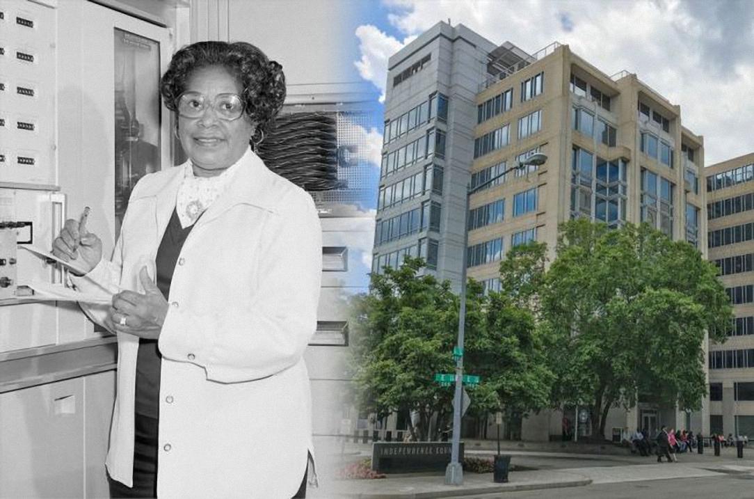 Nữ kỹ sư Mary W. Jackson và tòa nhà trụ sở của NASA được đặt theo tên bà. Ảnh: NASA.