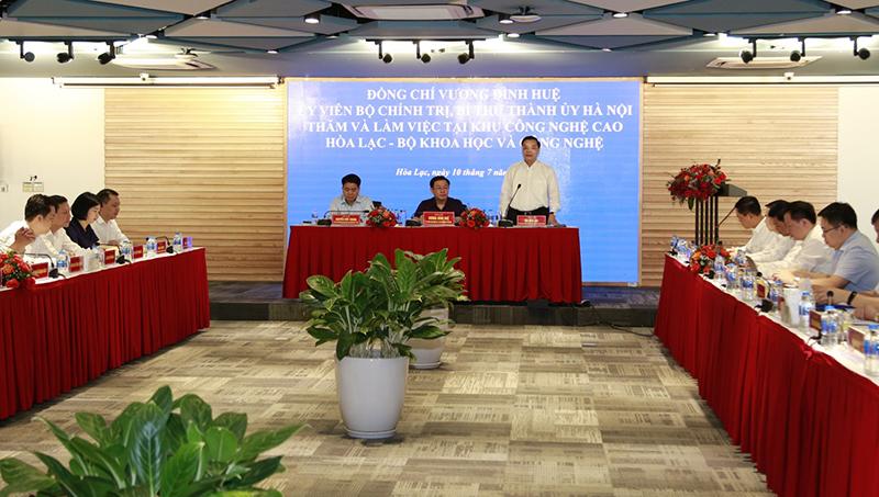 Bộ trưởng Chu Ngọc Anh phát biểu tại buổi làm việc. Ảnh: BTC