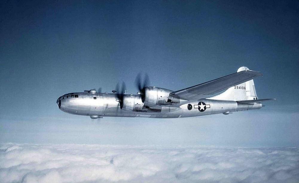 Siêu pháo đài bay B-29 của Không lực Hoa Kỳ. Ảnh: Flickr.