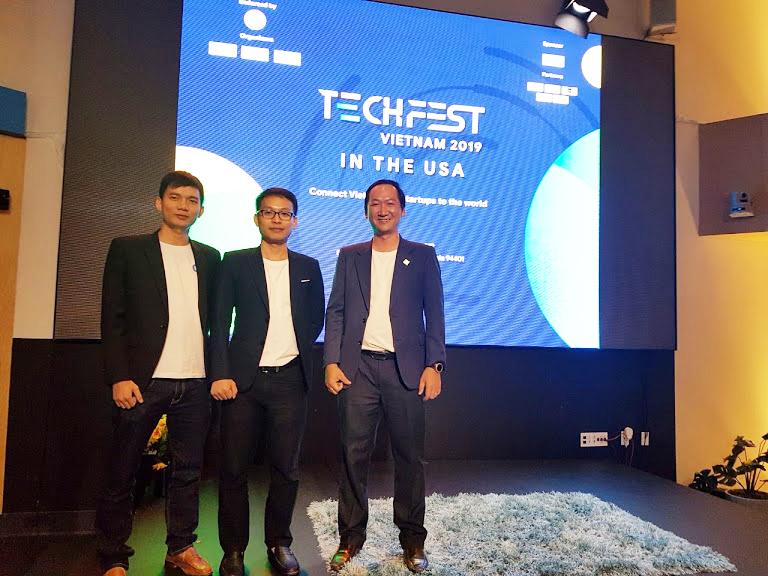 Ba founder của GoStream trong chuyến tham gia Techfest tại Mỹ 2019. Ảnh: NVCC.