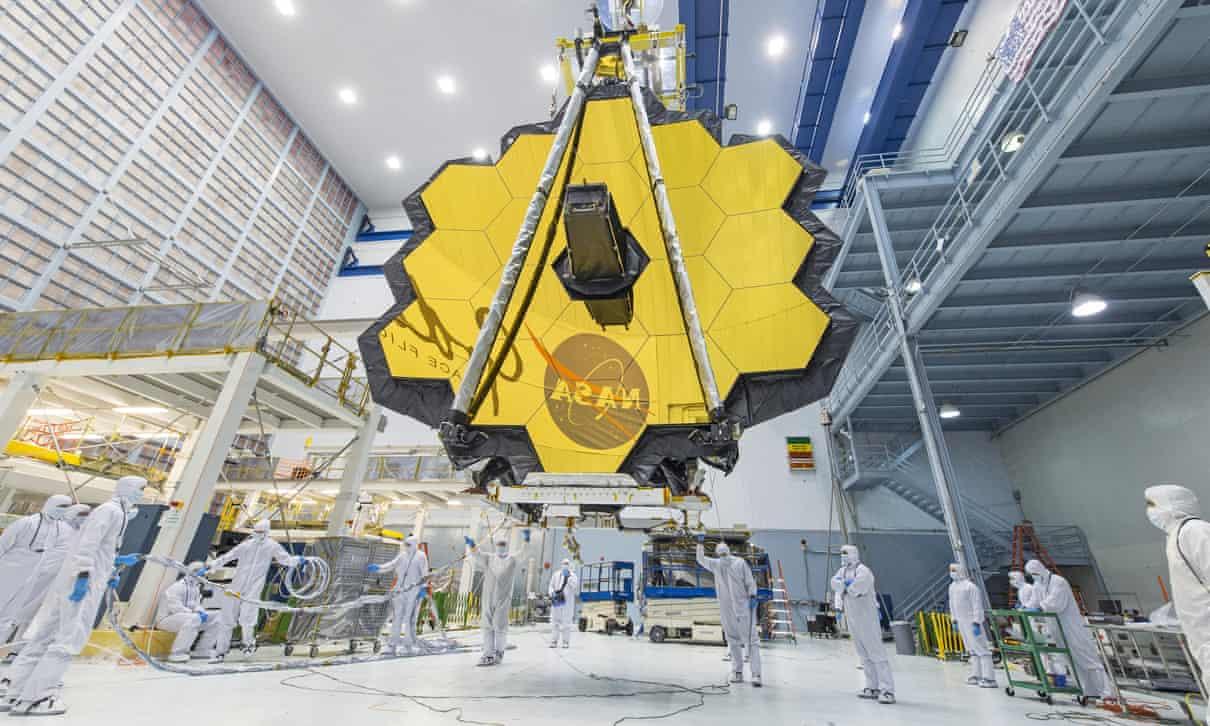 Kính thiên văn Không gian James Webb. Ảnh: AP.