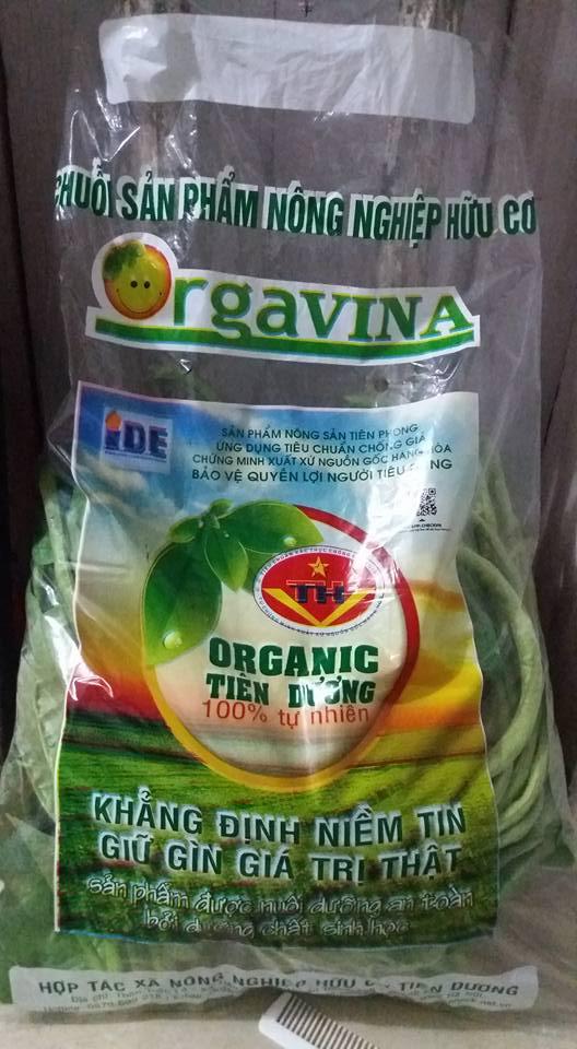Sản phẩm rau organic do bà con HTX Tiên Dương sản xuất. Ảnh: Tiên Dương Organic.