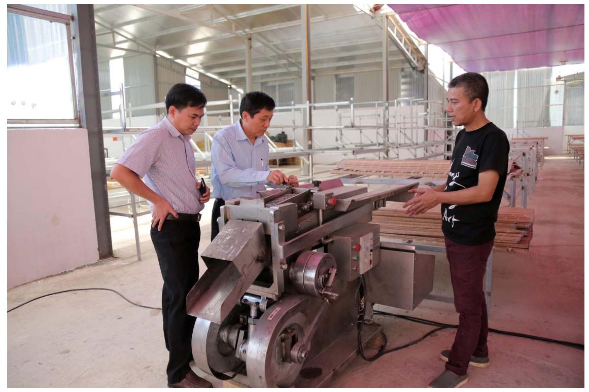 Mô hình dây chuyền chế biến trà và bột dinh dưỡng từ chùm ngây và táo mèo ứng dụng công nghệ sấy hồng ngoại được thực hiện theo công văn đặt hàng của tỉnh Yên Bái. Ảnh: Văn phòng Chương trình Tây Bắc.