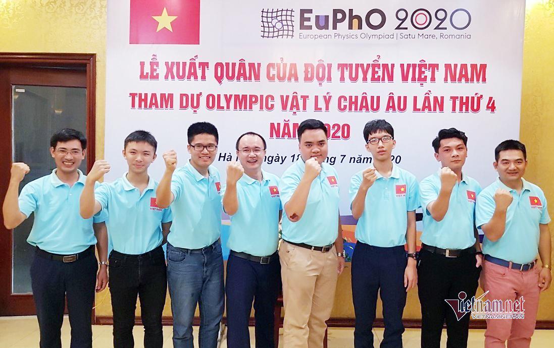Các thí sinh Việt Nam dự thi Olympic Vật lý châu Âu năm 2020.