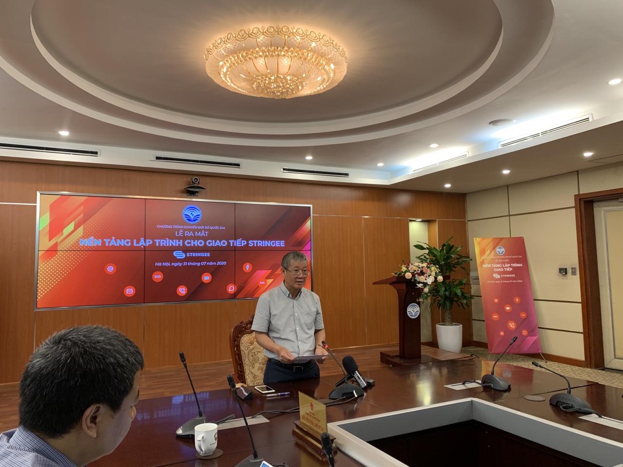 Thứ trưởng Nguyễn Thành Hưng phát biểu tại sự kiện. Ảnh: BN