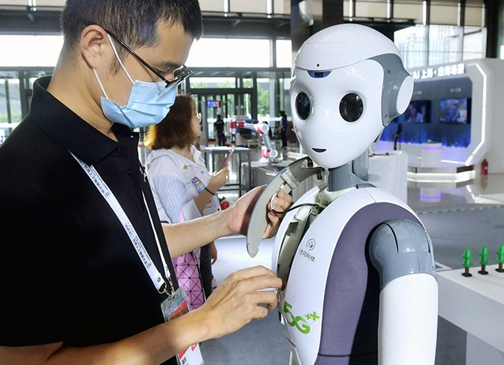 Trí tuệ nhân tạo cho robot là một trong ba lĩnh vực trọng tâm mà Quỹ Khoa học Quốc gia Hoa Kỳ sẽ ưu tiên tài trợ cho học viên sau đại học. Ảnh: Yang Jianzheng/ Getty image