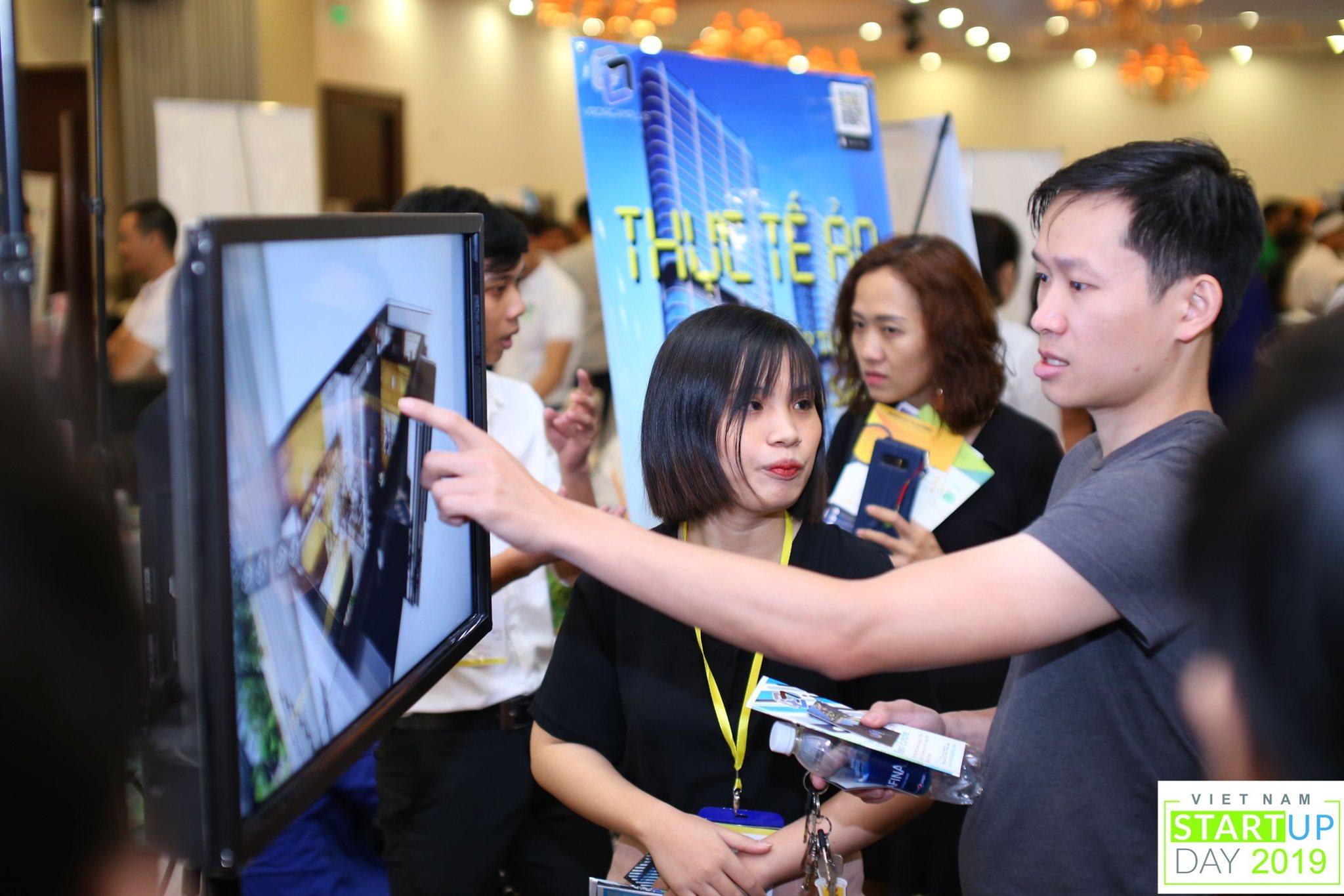 Giới thiệu sản phẩm trong Vietnam Startup day 2019. Ảnh: BTC