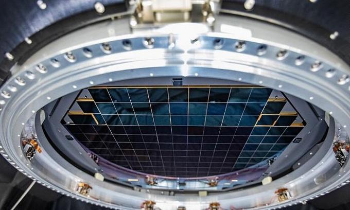 Mặt phẳng tiêu cự của camera LSST. Ảnh: Đài quan sát Vera C. Rubin.