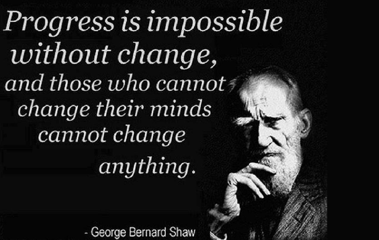 """George Bernard Shaw từng nhận định: """"Không có thay đổi, sẽ không có tiến bộ, và những ai không chịu thay đổi tư duy sẽ không thể thay đổi bất cứ thứ gì."""" Ảnh: Wikimedia"""