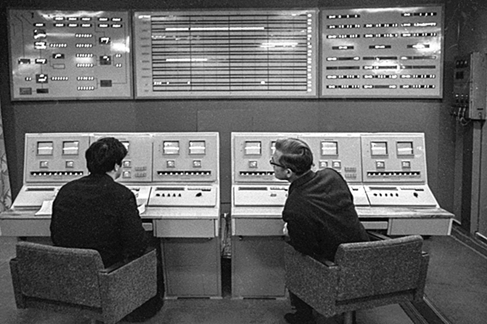 Xử lý thông tin trước chuyến bay của tàu Venera-7. Ảnh: TASS.