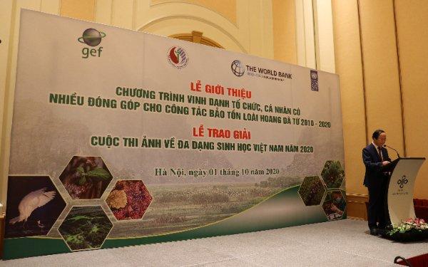 Thứ trưởng Bộ TN&MT Võ Tuấn Nhân phát biểu tại sự kiện. Ảnh: BTC.