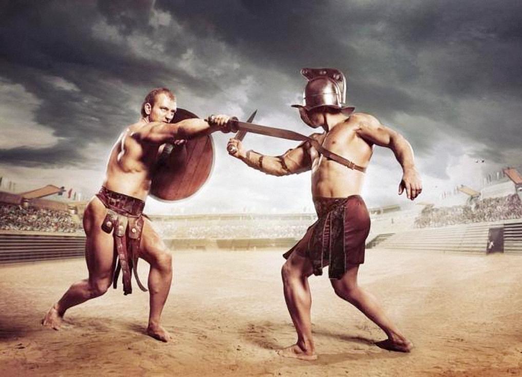 Các đấu sĩ La Mã cổ đại đang chiến đấu. Ảnh: Adobe Stock.