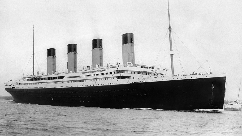 Tàu RMS Titanic khởi hành từ Southampton vào ngày 10/ 4/1912. Ảnh: Space