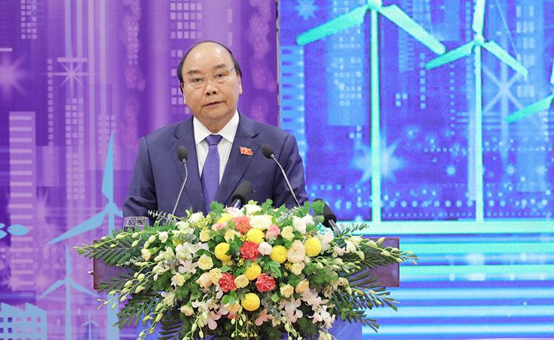 Thủ tướng Nguyễn Xuân Phúc phát biểu ý kiến tại Diễn đàn   Ảnh: BTC