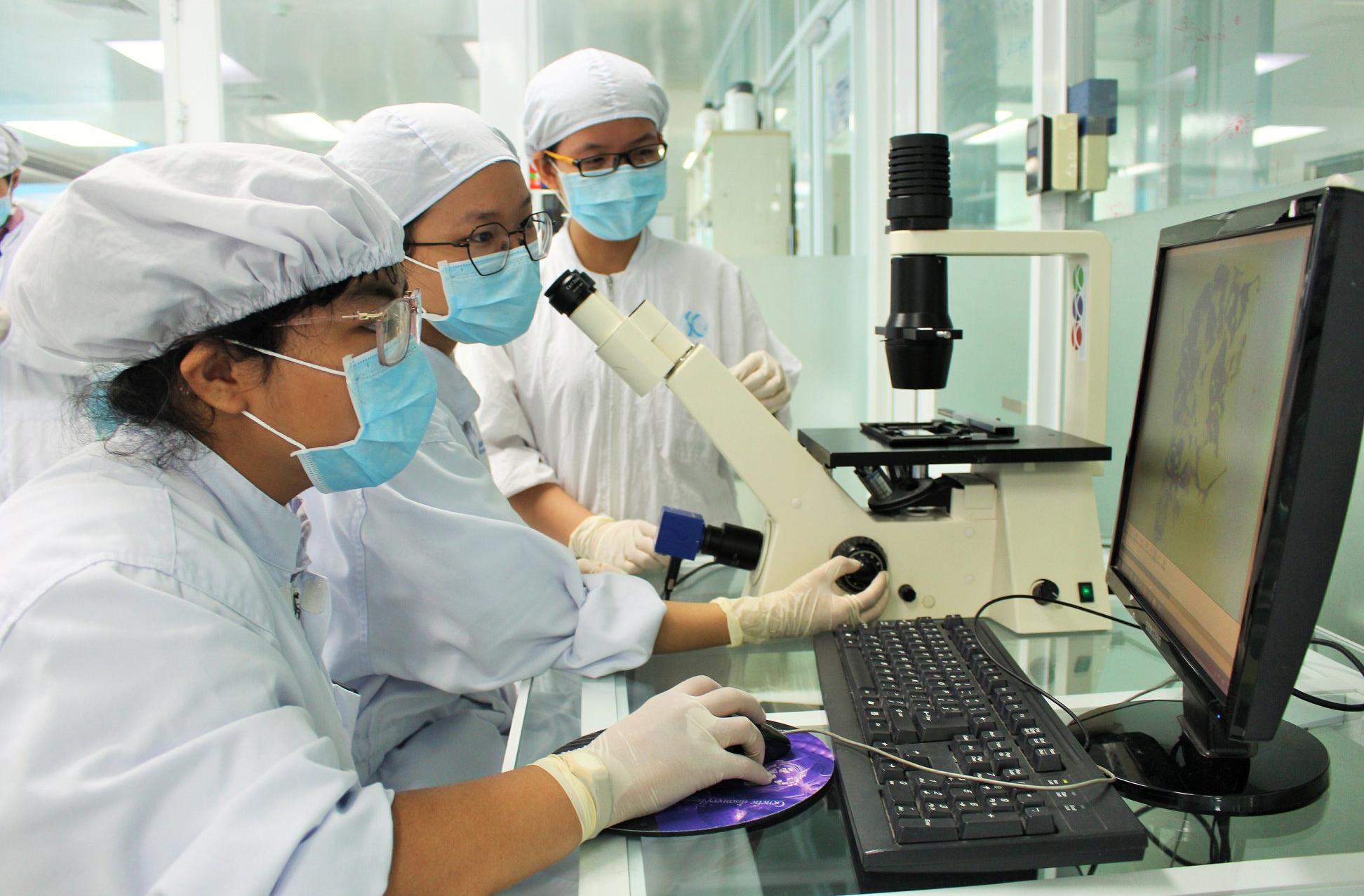 Các nhà nghiên cứu Viện Tế bào gốc trong phòng thí nghiệm. Nguồn: Viện Tế bào gốc