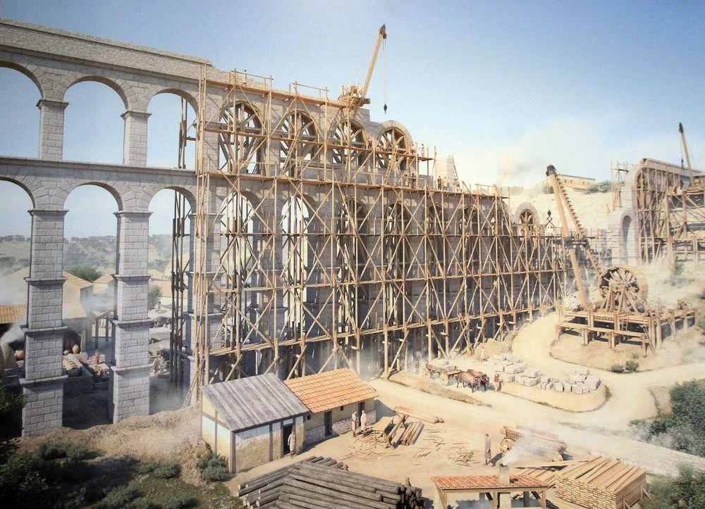 Hình ảnh đồ họa tái hiện lại quá trình xây dựng cây cầu. Ảnh: Antonio Tanarro.