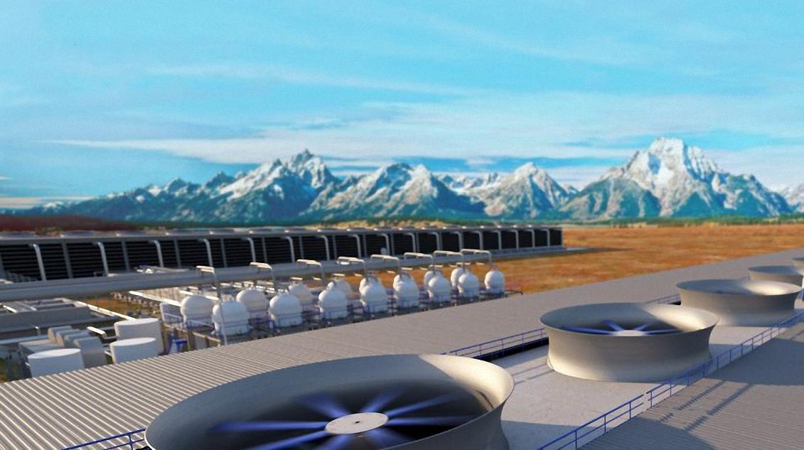 Nhà máy hấp thụ CO2 từ khí quyển. Ảnh: Carbon Engineering.