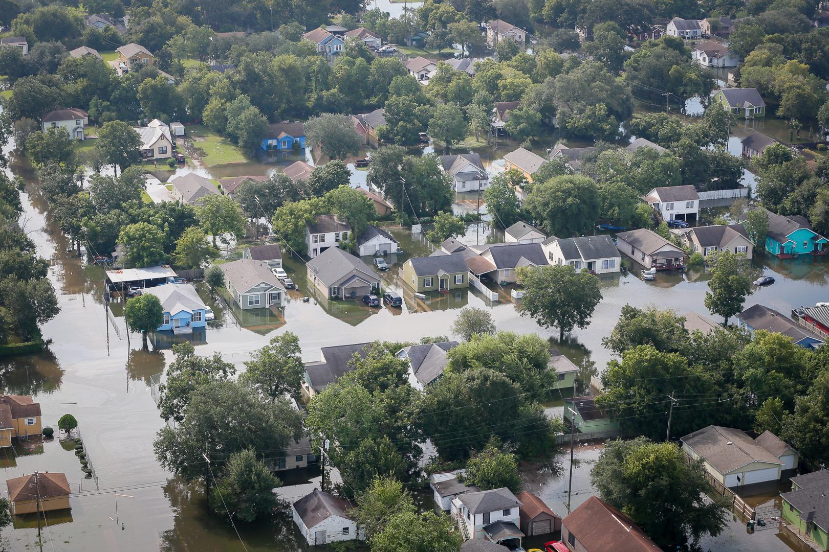 Bão Harvey năm 2018 làm ngập hàng trăm nghìn căn nhà tại Texas, Mỹ | Nguồn: US National Guard, Public Domain