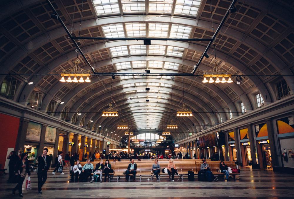 Nhà ga trung tâm Stockholm tại Thụy Điển. Ảnh: Flickr.
