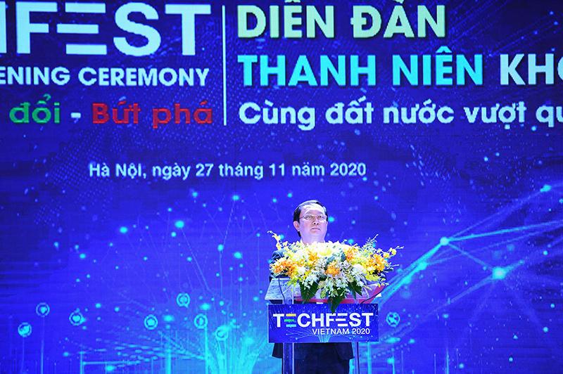 Khai mạc TECHFEST 2020: Bộ trưởng Huỳnh Thành Đạt nêu 4 vấn đề cần tập trung giai đoạn tới