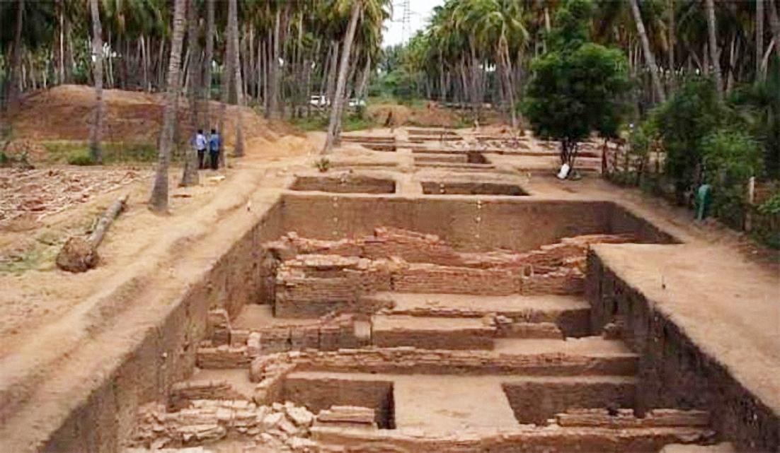 Di chỉ khảo cổ Keezhadi tại bang Tamil Nadu, miền Nam Ấn Độ. Ảnh: Ophelia S.