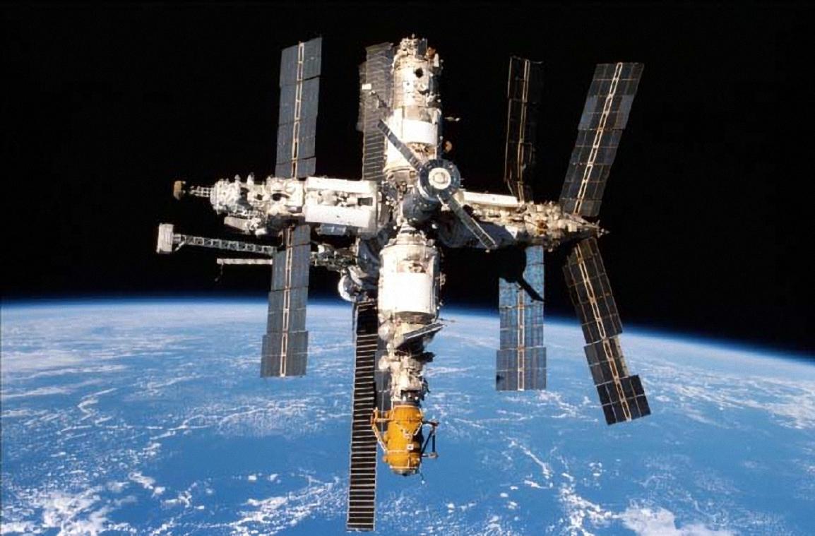 Trạm vũ trụ Hòa Bình. Ảnh: NASA.