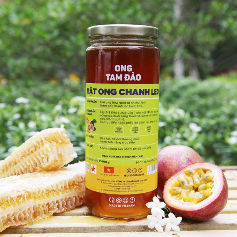 Sản phẩm mật ong chanh leo từ dự án. Nguồn: Honeco